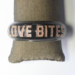 Betsey Johnson Love Bites Bracelet